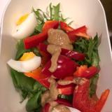 パプリカとスナップエンドウの彩りサラダ