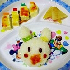 幼児プレート◎豆腐のチーズ焼き