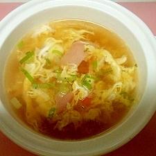 ハムと卵のスープ