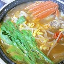 韓国風☆ 「海鮮味噌鍋(テンジャンチゲ)」