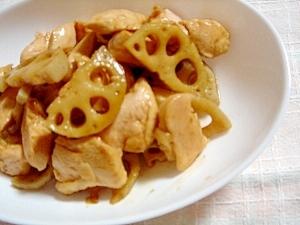 鶏ももとレンコンの炒め物