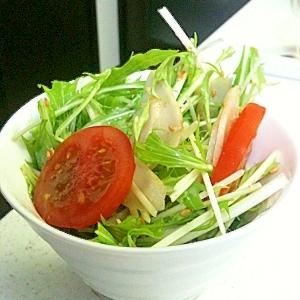 ごぼうと水菜のシャキシャキ胡麻サラダ