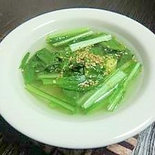 5分で完了!小松菜の簡単スープ