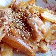 豚肉と玉ねぎのスタミナ炒め♪