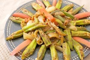 カレー粉で野菜炒め!オクラのサブジ さっぱり味