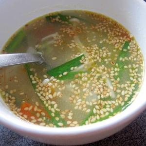 ニラたっぷり中華スープ