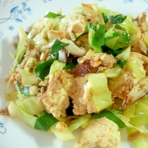 キャベツと豆腐のツナチャンプルー