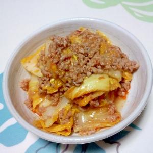白菜のピリ辛中華そぼろ炒め++