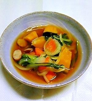 南瓜と人参のコンソメスープ