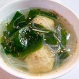 肉団子と春雨の中華スープ♪