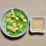 アボカドとプロセスチーズと水菜のサラダ