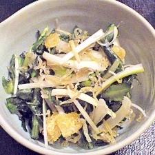 カリカリじゃこが香ばしい♪ネギと春菊の大人のサラダ
