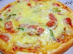 妻のお気に入り☆チーズたっぷりジューシートマトピザ