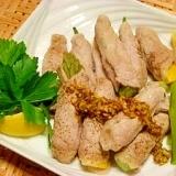 レンジで☆野菜の豚肉巻き