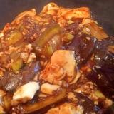 適当、麻婆茄子豆腐(cookdo黒麻婆豆腐用)