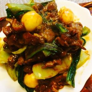 牛肉と青梗菜のオイスターソース炒め