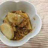 ごはんがすすむ!里芋と大豆ひき肉の甘辛あん