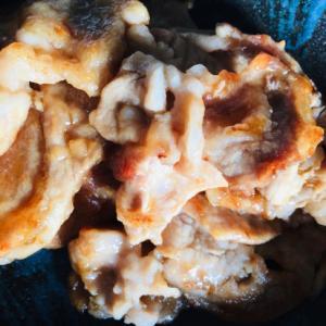 生姜焼き用肉の甘酢炒め