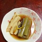 ふきとチクワの煮びたし【麺つゆで簡単!】