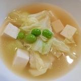 白菜&豆腐&枝豆の韓国風スープ
