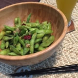 バルで人気の枝豆ペペロンチーノ♪