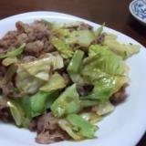 牛肉とキャベツのポン酢炒め
