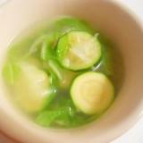 ウェイパーで白菜とズッキーニ 中華スープ