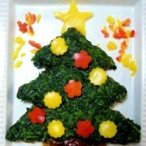 ☆クリスマス☆可愛いツリーハンバーグ☆
