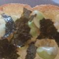 枝豆とチーズと海苔のトースト
