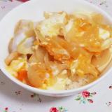 豆腐で節約&ボリュームアップ♪めんつゆで簡単親子丼