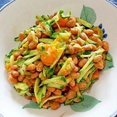 納豆の食べ方-きゅうり&かぼちゃ♪