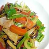 ハムと残り野菜で簡単中華炒め