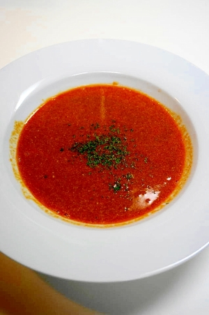残して~海老の頭と殻!海老のビスクスープ