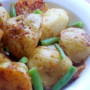 濃い味に感じる❤いんげん&ジャガ芋の炒め煮♪