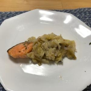 一鍋で鮭のキャベツあんかけ