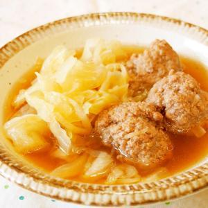 キャベツと肉団子の煮物♪ふんわり食感♪