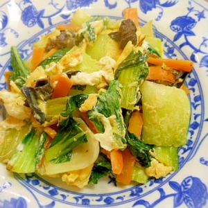 チンゲン菜の卵炒め