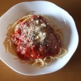 ツナとトマトの簡単パスタ