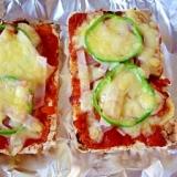 玄米トーストで、ピザ