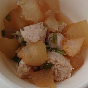 肉団子と冬瓜の炒め煮