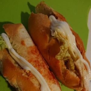 キャベツのみでも簡単サンドイッチ