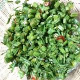 パセリの茎の油炒め
