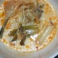 たらと厚揚げのキムチ豆乳鍋