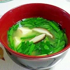 にらとお豆腐のお味噌汁
