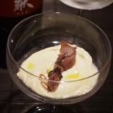 【富山食材】空豆のムース蛍烏賊添え
