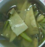 アサリとタケノコとグリーンアスパラのスープ