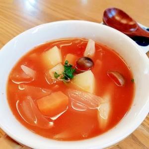 ささみと野菜のトマトのスープ