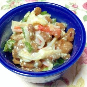 カニカマとマヨ豆腐納豆❤︎