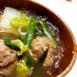 ★肉団子と春雨の中華スープ★
