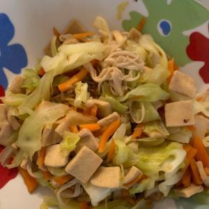 高野豆腐入り野菜炒め